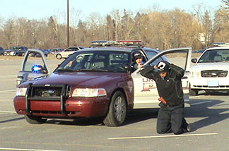 police recruit performing a car stop