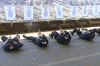 police recruits at target practice
